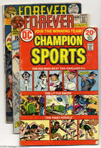 DC Bronze Age Group (DC, 1971-76) Condition: Average GD/VG. This group includes Champion Sports #1, Forever People #...