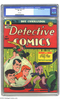 Golden Age (1938-1955):Superhero, Detective Comics #79 (DC, 1943) CGC VF- 7.5 White pages. Batman and Robin cover. Jack Kirby and Joe Simon art. Overstreet 20...