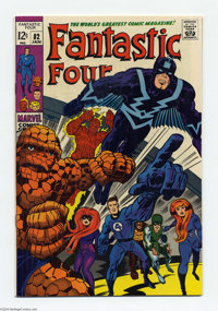 Fantastic Four #82 (Marvel, 1969) Condition: VF/NM. Inhumans appearance. Jack Kirby cover and art. Overstreet 2004 VF/NM...