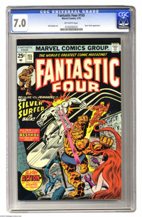 Fantastic Four #155 (Marvel, 1975) CGC FN/VF 7.0 Off-white pages. Silver Surfer appearance. Medusa as FF member. Rich Bu...