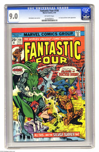 "Fantastic Four #156 (Marvel, 1975) CGC VF/NM 9.0 Off-white pages. The FF as the ""Slaves of Doctor Doom."" Silve..."