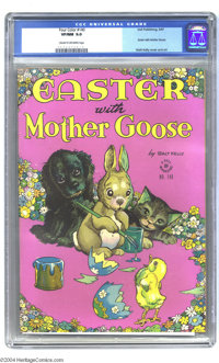 Four Color #140 Easter With Mother Goose (Dell, 1947) CGC VF/NM 9.0 Cream to off-white pages. Walt Kelly cover and art...