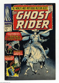 Bronze Age (1970-1979):Horror, Ghost Rider #1 (Marvel, 1973) Condition: VF+. Origin and firstappearance of Marvel's (Western) Ghost Rider. Kid Colt reprin...
