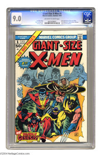 Giant-Size X-Men #1 (Marvel, 1975) CGC VF/NM 9.0 Off-white to white pages. Classic re-launch issue, featuring interior a...