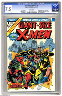Giant-Size X-Men #1 (Marvel, 1975) CGC VF- 7.5 White pages. This highly-desirable book features the very important first...