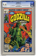 Bronze Age (1970-1979):Superhero, Godzilla (Marvel) #1 (Marvel, 1977) CGC NM 9.4 Off-white to white pages. Dum-Dum Dugan and Nick Fury appearance. Herb Trimpe...