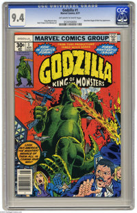 Godzilla (Marvel) #1 (Marvel, 1977) CGC NM 9.4 Off-white to white pages. Dum-Dum Dugan and Nick Fury appearance. Herb Tr...