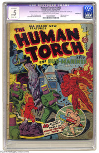 The Human Torch #4 (#3) (Timely, 1941) CGC Apparent PR 0.5 Slight (A) Cream to off-white pages. Sub-Mariner and Patriot...