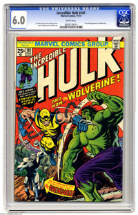 The Incredible Hulk #181 (Marvel, 1974) CGC FN 6.0 White pages. First full appearance of Wolverine, cover and story. Her...