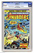 Bronze Age (1970-1979):Superhero, The Invaders #1 (Marvel, 1975) CGC NM 9.4 Off-white to white pages. Story continued from Giant-Size Invaders #1. John Ro...