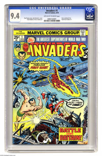The Invaders #1 (Marvel, 1975) CGC NM 9.4 Off-white to white pages. Story continued from Giant-Size Invaders #1. John Ro...