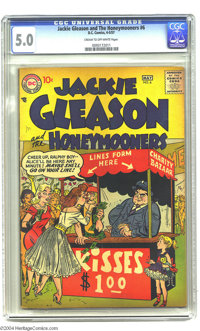 Jackie Gleason and the Honeymooners #6 (DC, 1957) CGC VG/FN 5.0 Cream to off-white pages. Kissing booth cover (by Bob Ok...