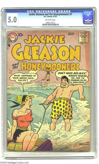 "Jackie Gleason and the Honeymooners #7 (DC, 1957) CGC VG/FN 5.0 Off-white pages. Alice Kramden ""headlights"" co..."