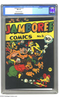 Golden Age (1938-1955):Funny Animal, Jamboree Comics #2 (Round, 1946) CGC NM 9.4 Cream to light tanpages. An ultra-attractive funny animal comic with an unusual...