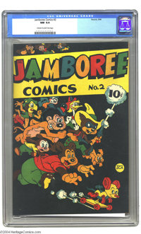 Jamboree Comics #2 (Round, 1946). An ultra-attractive funny animal comic with an unusual black cover. Black cover comics...
