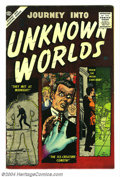 Silver Age (1956-1969):Horror, Journey Into Unknown Worlds #52 (Atlas, 1956) Condition: FN/VF. JoeManeely cover. Overstreet 2004 FN 6.0 value = $48; VF 8....