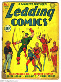 Golden Age (1938-1955):Superhero, Leading Comics #1 (DC, 1941) Condition: FR/GD. Origin of the Seven Soldiers of Victory. Cover and two innermost folds are de...