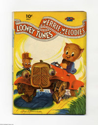 Looney Tunes and Merrie Melodies Comics #9 (Dell, 1942) Condition: VG. Painted cover. Overstreet 2004 VG 4.0 value = $10...