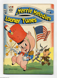 Looney Tunes and Merrie Melodies Comics #10 (Dell, 1942) Condition: FN+. Flag cover. Overstreet 2004 FN 6.0 value = $156...