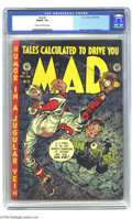 Golden Age (1938-1955):Humor, Mad #2 (EC, 1952). CGC FN/VF 7.0 Cream to off-white pages. Jack Davis cover. Highlights are a horror-tinged baseball story a...