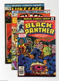 Bronze Age (1970-1979):Superhero, Marvel Bronze Age First Issues Group (Marvel, 1972-77) Condition: Average VF+. This group includes Black Panther #1 (Jac... (Total: 8 Comic Books Item)