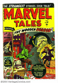 Golden Age (1938-1955):Horror, Marvel Tales #97 (Atlas, 1950) Condition: VG+. Used in New YorkState Legislative document. Sun Girl appearance. Don Rico ar...
