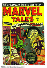 Marvel Tales #97 (Atlas, 1950) Condition: VG+. Used in New York State Legislative document. Sun Girl appearance. Don Ric...