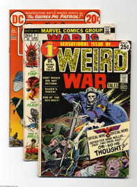Miscellaneous Bronze Age War Group (Various, 1971-77) Condition: Average VG. This group includes G.I. War Tales #1, Me...