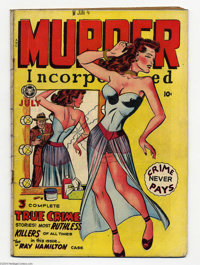 Murder Incorporated #4 (Fox Features Syndicate, 1948) Condition: VG-. Overstreet 2004 VG 4.0 value = $48
