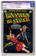 Golden Age (1938-1955):Science Fiction, Mystery in Space #1 (DC, 1951) CGC Apparent VG 4.0 Cream to off-white pages. Knights of the Galaxy begins. Carmine Infantino...