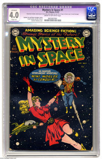 Mystery in Space #1 (DC, 1951) CGC Apparent VG 4.0 Cream to off-white pages. Knights of the Galaxy begins. Carmine Infan...