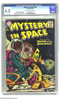 "Mystery in Space #46 (DC, 1958) CGC FN+ 6.5 Cream to off-white pages. Creepy but colorful Gil Kane cover features ""..."