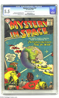 """Silver Age (1956-1969):Science Fiction, Mystery in Space #47 (DC, 1958) CGC FN- 5.5 Cream to off-white pages. Earth is caught in the middle of the """"Interplanetary T..."""