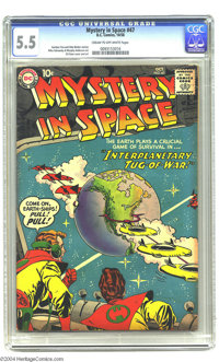 "Mystery in Space #47 (DC, 1958) CGC FN- 5.5 Cream to off-white pages. Earth is caught in the middle of the ""Interpl..."