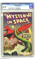 Silver Age (1956-1969):Science Fiction, Mystery in Space #51 (DC, 1959) CGC FN 6.0 Cream to off-white pages. An otherworldly tentacle ensnares a spaceship in Gil Ka...