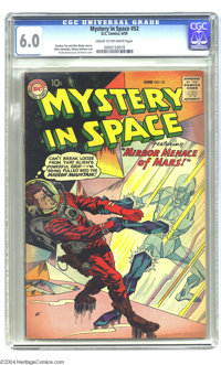 Mystery in Space #52 (DC, 1959) CGC FN 6.0 Cream to off-white pages. An alien world's prismatic rockscape affords this G...