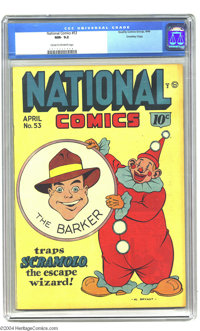 National Comics #53 Crowley pedigree (Quality, 1946) CGC NM- 9.2 Cream to off-white pages. The Barker cover/story. Overs...