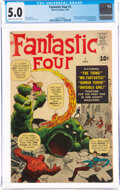 Silver Age (1956-1969):Superhero, Fantastic Four #1 (Marvel, 1961) CGC VG/FN 5.0 Cream to off-white pages....