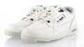 Collectible, Apple Inc. . Apple Computer Sneakers, late 20th century. Pair of sneakers with extra set of laces. 7-1/2 x 13-1/2 x 4-1/...