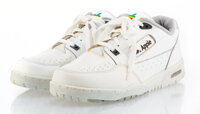 Apple Inc. Apple Computer Sneakers, late 20th century Pair of sneakers with extra set of laces 7-1/2 x 13-1/2 x 4-1/