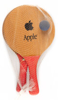 Collectible, Apple Inc. . Paddle Ball Set, late 20th century. Wood, resin, and rubber ball. 13-1/2 x 8 inches (34.3 x 20.3 cm) (each)... (Total: 3 Items)