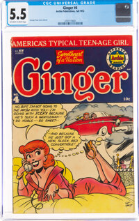Ginger #4 (Archie, 1952) CGC FN- 5.5 Off-white to white pages