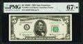Fr. 1966-L $5 1950E Federal Reserve Note. PMG Superb Gem Unc 67 EPQ*