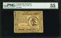 Colonial Notes:Continental Congress Issues, Continental Currency May 9, 1776 $3 PMG About Uncirculated 55.. ...