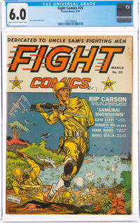 Fight Comics #25 (Fiction House, 1943) CGC FN 6.0 Dark tan to off-white pages
