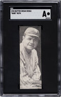 Baseball Cards:Singles (1930-1939), 1933 Butter Cream Babe Ruth SGC Authentic - A Card 50 Years In The Making, ...