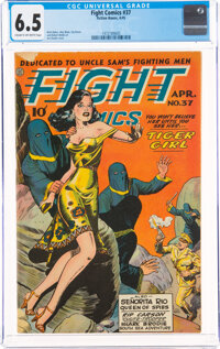 Fight Comics #37 (Fiction House, 1945) CGC FN+ 6.5 Cream to off-white pages