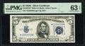 Small Size:Silver Certificates, Fr. 1653* $5 1934C Wide Silver Certificate Star. PMG Choice Uncirculated 63 EPQ.. ...