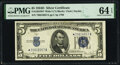 Small Size:Silver Certificates, Fr. 1654* $5 1934D Wide I Silver Certificate Star. PMG Choice Uncirculated 64 EPQ.. ...