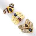 Estate Jewelry:Rings, Diamond, Ruby, Sapphire, Gold Rings. ... (Total: 3 Items)